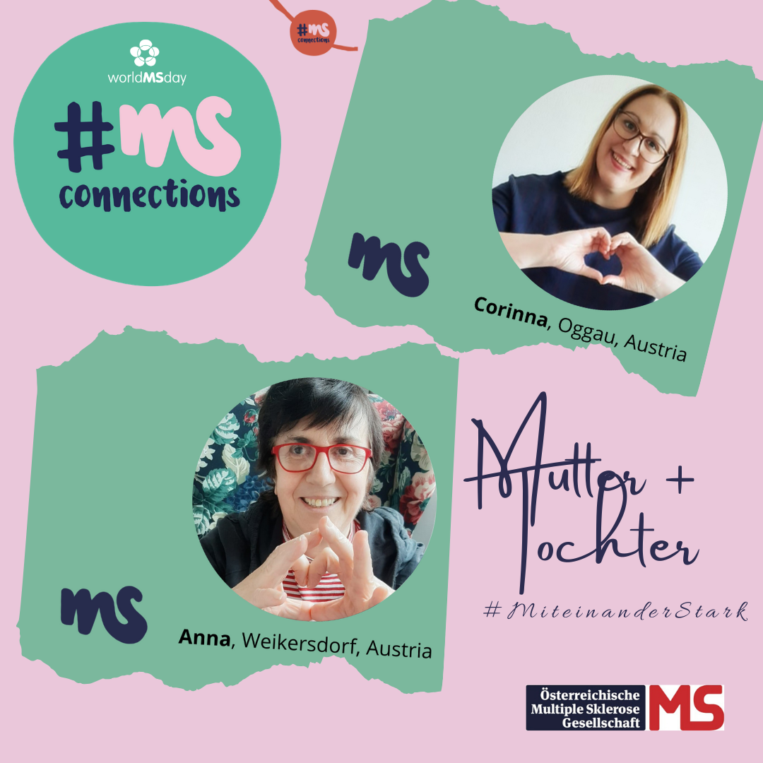 Mutter und Tochter engagieren sich für den Welt-MS-Tag am 30. Mai: #MiteinanderStark. Gemeinsam stärker als Multiple Sklerose.