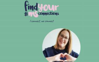 türkises Rechteck mit Bild von Corinna, Oggau, Austria, Text: find your #MSConnections