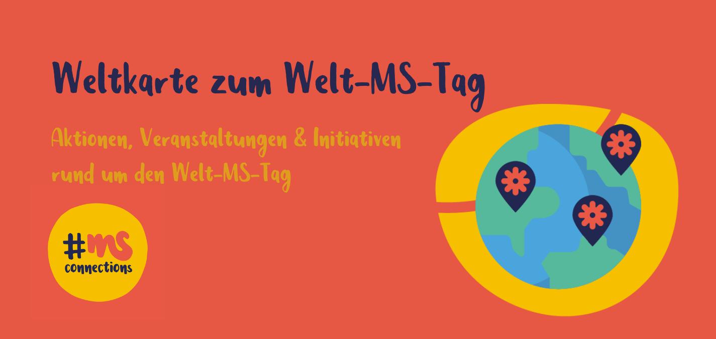 Weltkarte zum Welt-MS-Tag