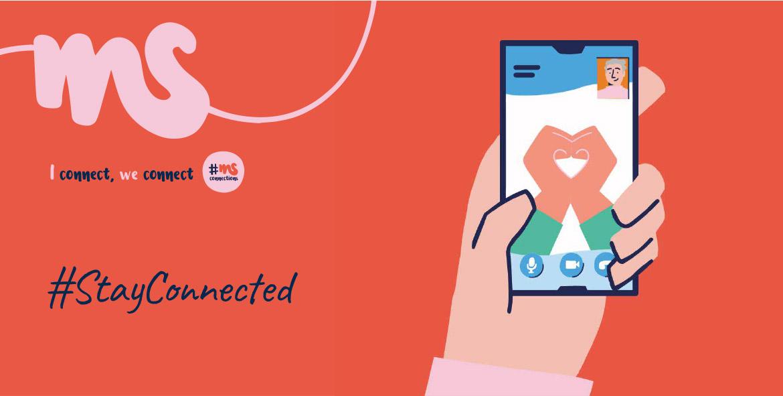 Rund um den Welt-MS-Tag am 30. Mai 2021 lenken die MS-Gesellschaften weltweit die Aufmerksamkeit auf die Situation von Menschen mit Multipler Sklerose. In der vom Corona-Virus geprägten Zeit steht der heurige Welt-MS-Tag unter dem Motto #StayConnected. Wir bleiben in Verbindung, du bist nicht alleine!