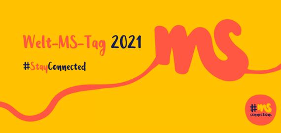 gelber Hintergrund, Logo Welt-MS-Tag