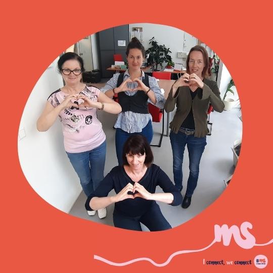 """Martina Körtner, Karin Krainz, Silvia Deneva, MSc, und Mag. Tamara Mandl, MS-Gesellschaft Wien: """"Der Einsatz für Menschen mit MS ist unsere persönliche Herzensangelegenheit."""""""